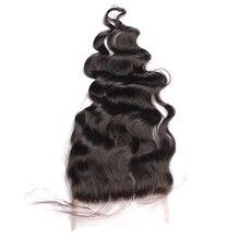 Luźne fala 5x5 koronka zamknięcie Pre oskubane z dzieckiem włosów Dolago brazylijski ludzki włos Remy darmo/Middle /trzy część