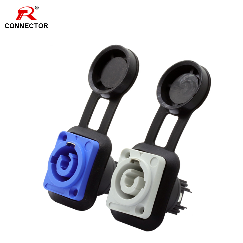 1pc Waterproof IP65 Powercon Female Socket, 3 Pin Panel Mount Chassis Connector, Stage Light LED Audio Power Socket Connector
