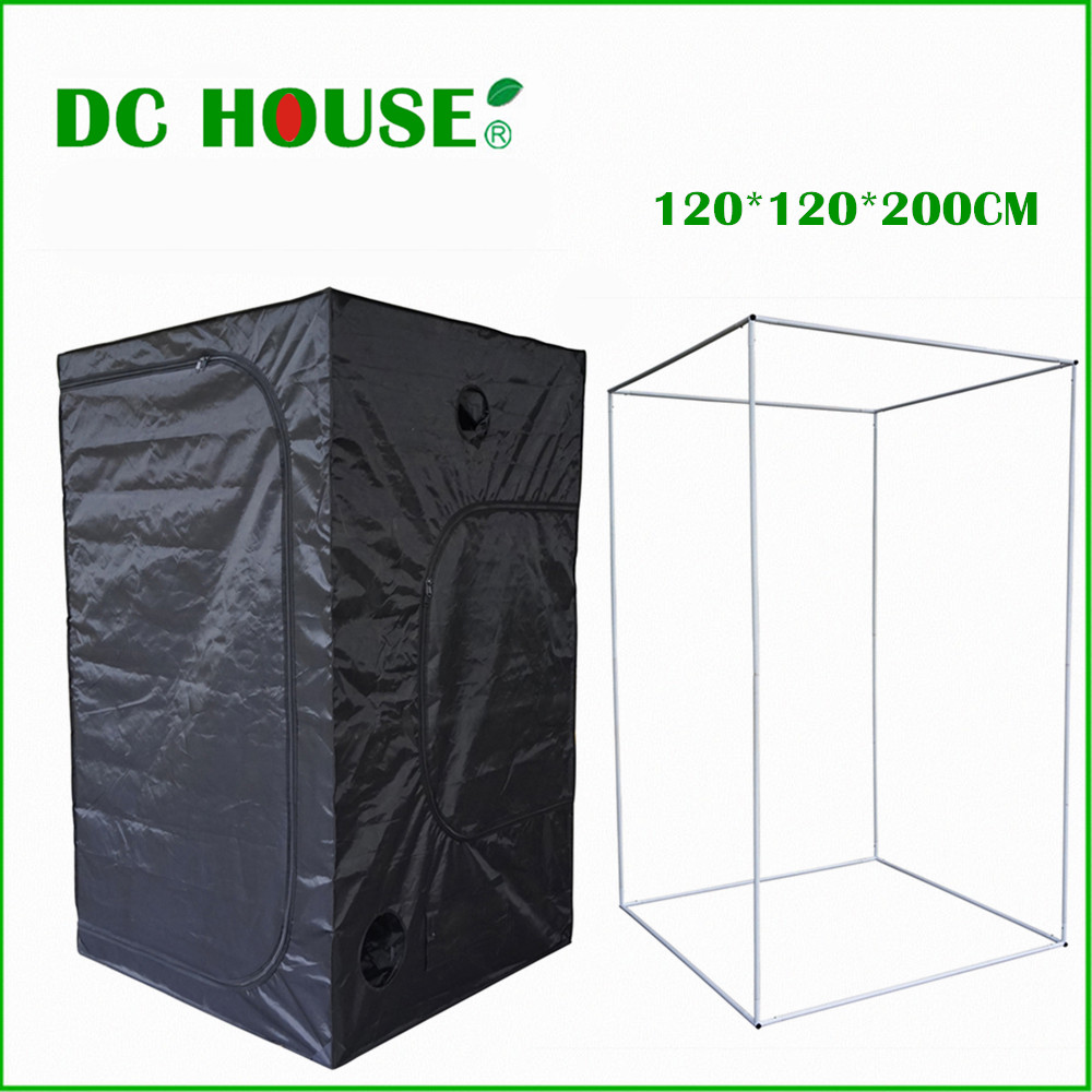 120*120*200 New Hydroponics Plants Grow Tent Mini Greenhouse Dark Room Complete Grow Tent System Garden Greenhouse цена 2017