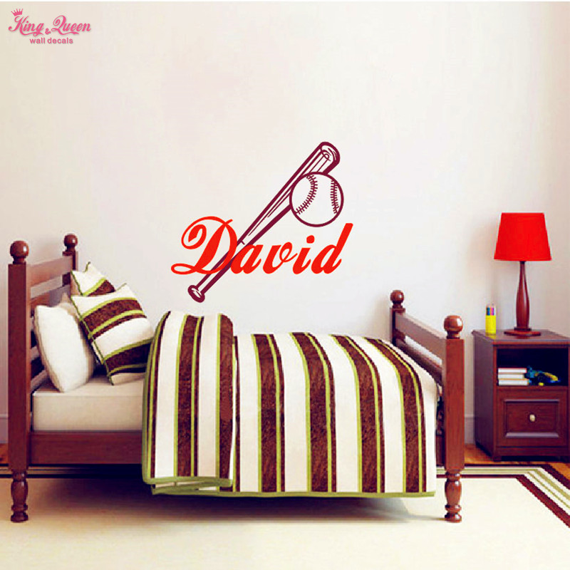 Baseball Decals Vinyl Wall Sticker Home Decor Personalized