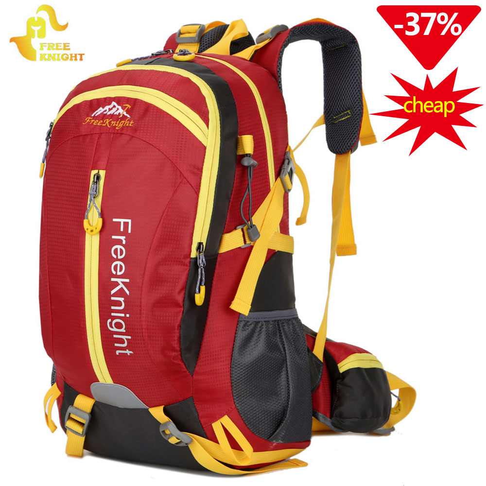 Free Knight 30L Nylon Waterproof Hiking Backpack Mountaineering Camping Bag  Outdoor Sport Backpack Travel Climbing Backpack 7c85df9512de1