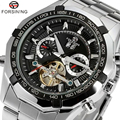 Cool Luxury Brand Forsining  Wrist Watch Men Stainless Still Mechanical Watch Mens Dress Watch Gift for Male W154001-2