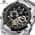 Legal Luxo Marca Forsining Relógio De Pulso Dos Homens Inoxidável Ainda W154001-2 Mecânica Assista Mens Vestido Relógio de Presente para o Sexo Masculino