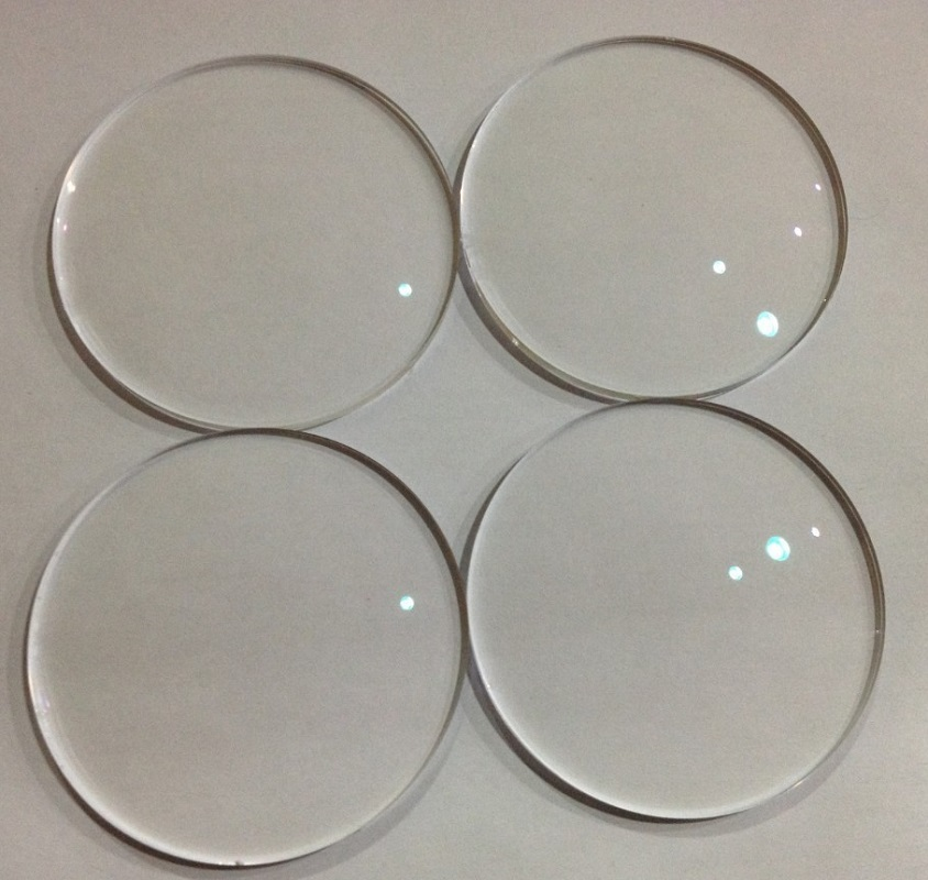 1.74 aspherical brand super thin CR-39 resin eyeglasses lenses ultraviolet reflective wear resistant coating green film lenses