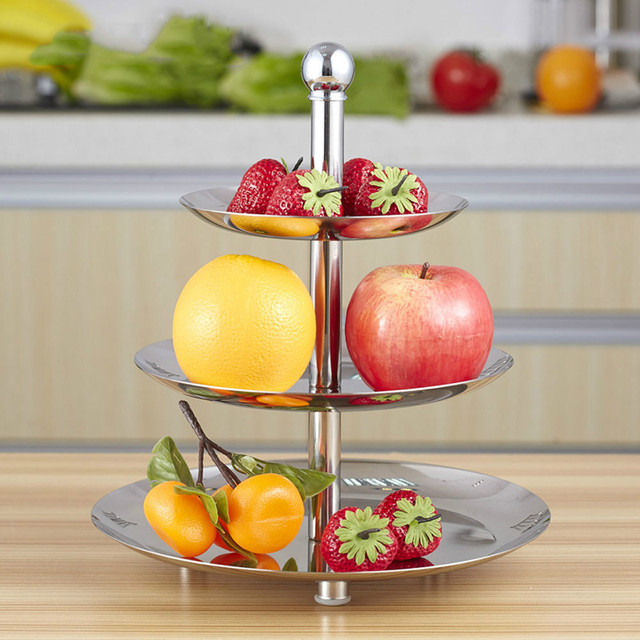 Stainless Steel 3 Layer Fruit Plate Cake Stand Afternoon Tea Dessert Dish Dried Fruit  sc 1 st  AliExpress.com & Stainless Steel 3 Layer Fruit Plate Cake Stand Afternoon Tea ...