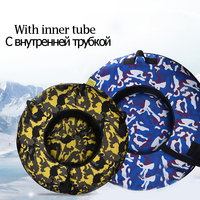 75/100CM Snow Sled Tubes Ski Circle Snow Tubing Children Adult Skiing Board Heavy Duty Winter Skiing Sled For Kid Slippery Grass