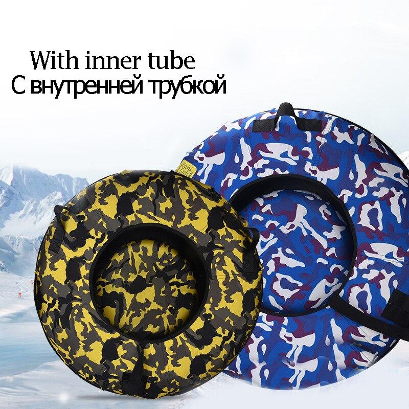 Tubes de traîneau à neige de 75/100 CM tube de neige de cercle de Ski enfants planche de Ski adulte traîneau de Ski d'hiver résistant pour l'herbe glissante d'enfant