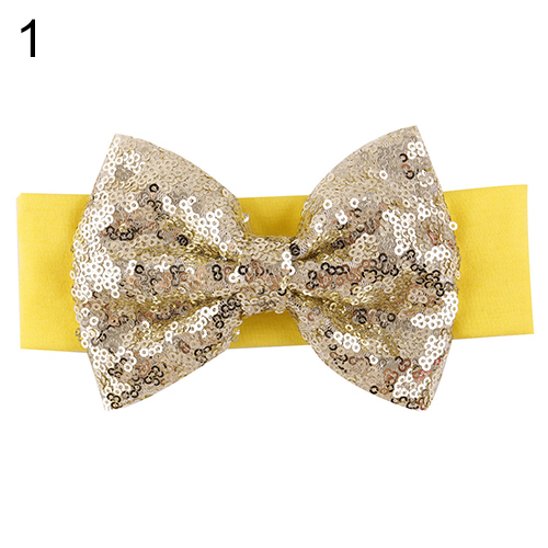 Sanwood Baby Girl Sequined Bow Headband Bowknot Hairband Type 6