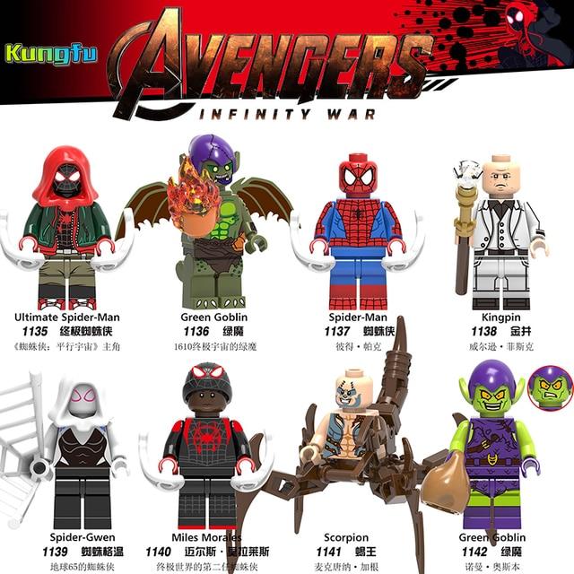 2019 HOT Legoing 4 Infinito Guerra Building Blocks Brinquedos Figuras Vingadores Thanos Maravilha Homem De Ferro Homem Aranha Capation América loly