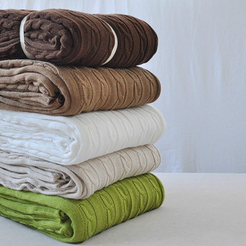 2016 Throw Blanket -1PC 100% Cotton Knitted Blanket Adult Blanket SpringAutumn Sofa Blanket Cobertor 120*180cm180cm*200cm