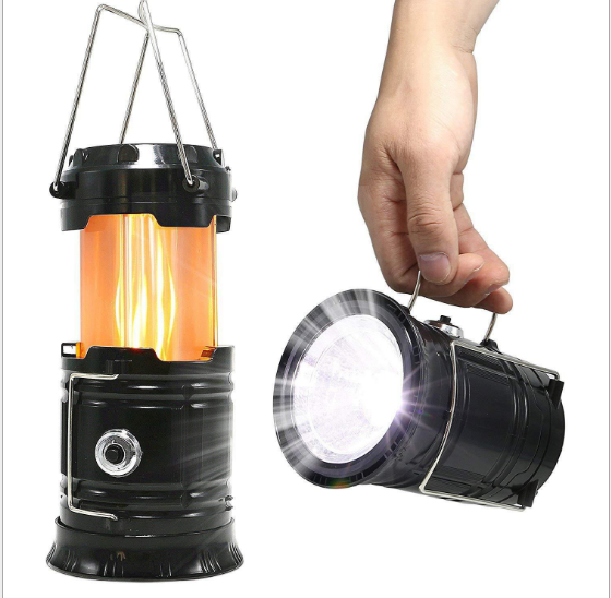 LED flame horse lightinging/3 steps outdoor portable tent lighting /telescopic camping light emergency lighting