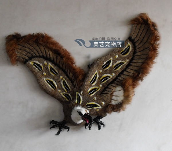 big simulation eagle toy polyethylene furs Decoration wings eagle model gift about 85x18x65cm