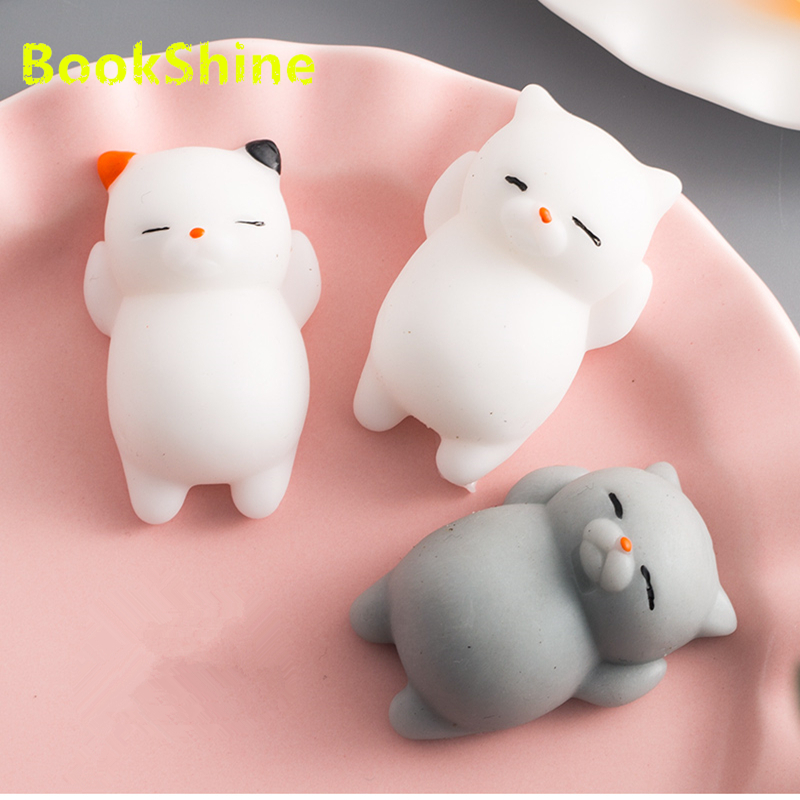 1pc Mini Squeeze Toys Antistress Ball Squishy Cat Slow Rising Doll Stretchy Animal Healing Stress Hand Fidget Vent Toy Fun Gift