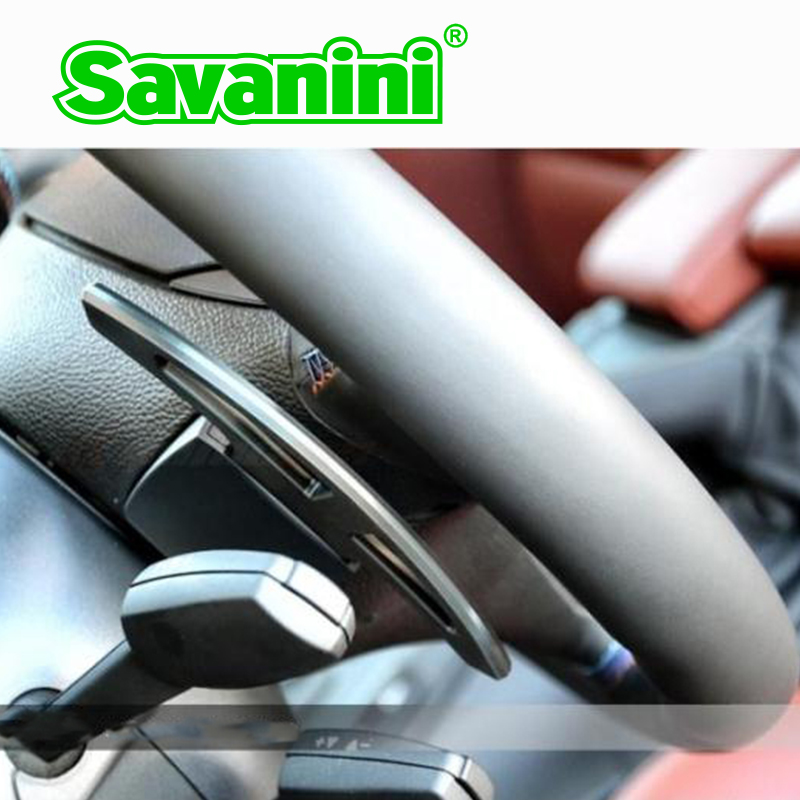 Volante de aluminio Savanini DSG Shift paddles Shifter Extension para - Autopartes - foto 2