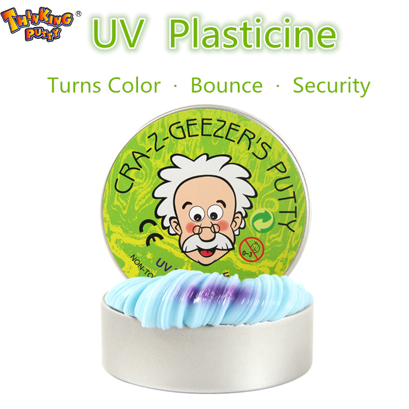 new Thinking putty light UV Clay rubber mud Malleable Fimo Polymer Modeling intelligent Power playdough gifts for children safety malleable polymer clay playdough soft power toys slime fluffy light colorful plasticine fimo fimo clay pasta para modelar