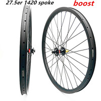 wheel carbon mtb wheels 27.5 wheelset carbon disc wheel 35mm 791 462 boost 1420 spokes 1550g disc mtb bicycle carbon wheels