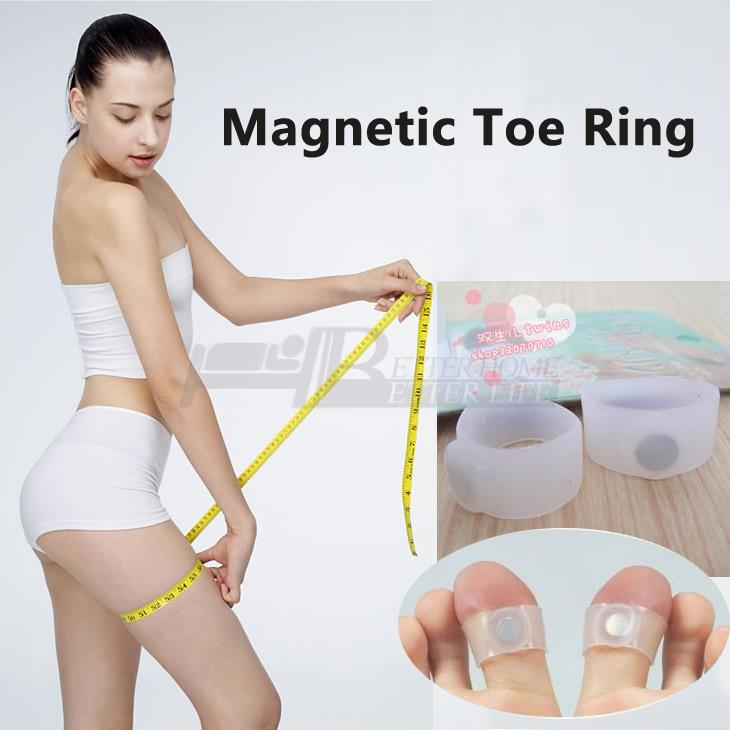 2 PCS Pair Slimming font b Health b font Silicon Magnetic Foot Massager Massge relax Toe