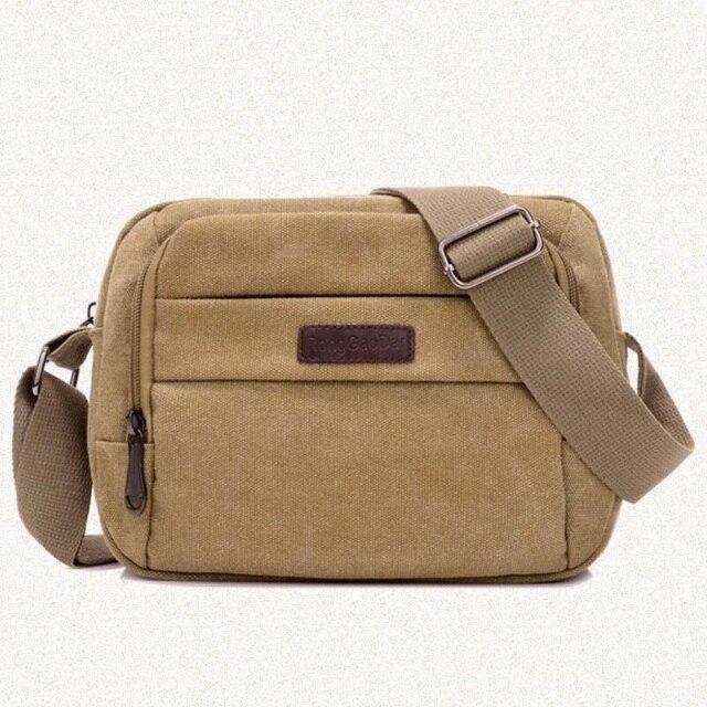 2017 New Men Messenger Bags Casual Multifunction Small Travel Bags Canvas  Shoulder Crossbody Bags Black Wholesale LJ-0574 3e9ff5816e