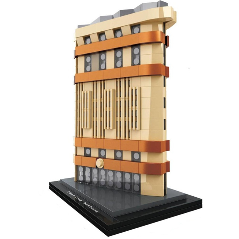 HSANHE Architecture Flatiron Skyline Collection Building Blocks Kit City Bricks Classic Model Kids Toys Gift Compatible Legoings hsanhe mini building blocks bricks architecture diy toys kids educational compatible legoe city bricks toys gift for children