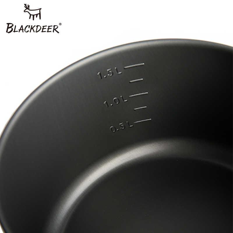 BLACKDEER Outdoor Camping zestaw stołowy plecak piknik 2 Pot 1 Frypan 1 czajnik Alumina trwałe naczynia składane zestaw do gotowania