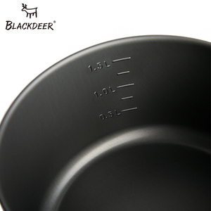 Image 5 - Blackdeer Outdoor Camping Servies Set Backpacken Picknick 2 Pot 1 Koekenpan 1 Ketel Aluminiumoxide Duurzaam Kookgerei Vouwen Koken Set