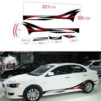 1 Pair Flame Car Styling Vinyl Body Car Sticker Car SUV Body Sticker Side Hood Decal Free Shipping