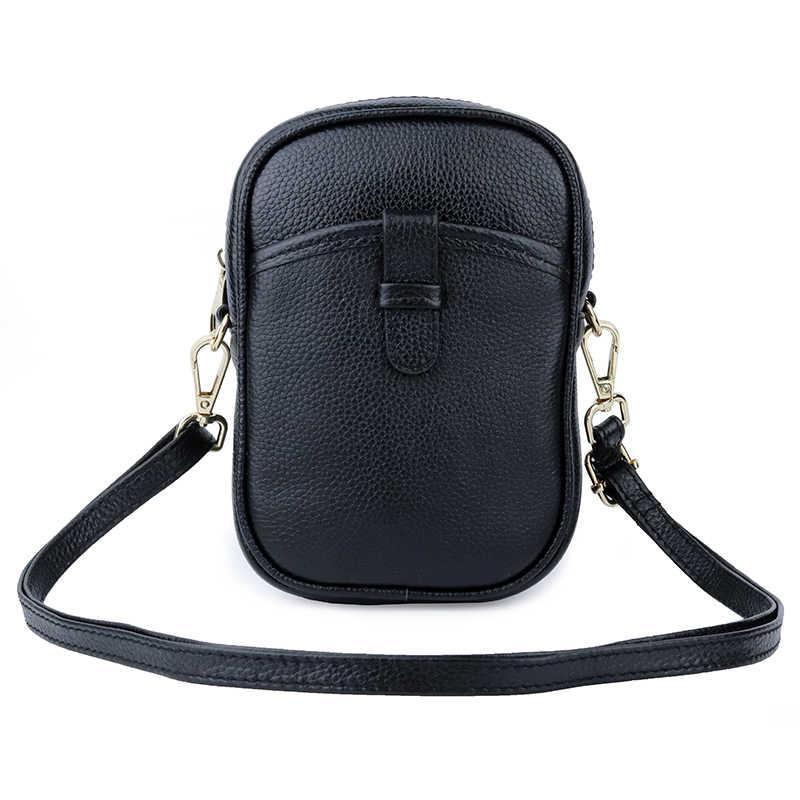 Роскошные Сумки Для женщин Курьерские сумки дизайнер 2019 Дамы Crossbody натуральной кожи кошелек черный/фиолетовый/серый женский чехол для телефона