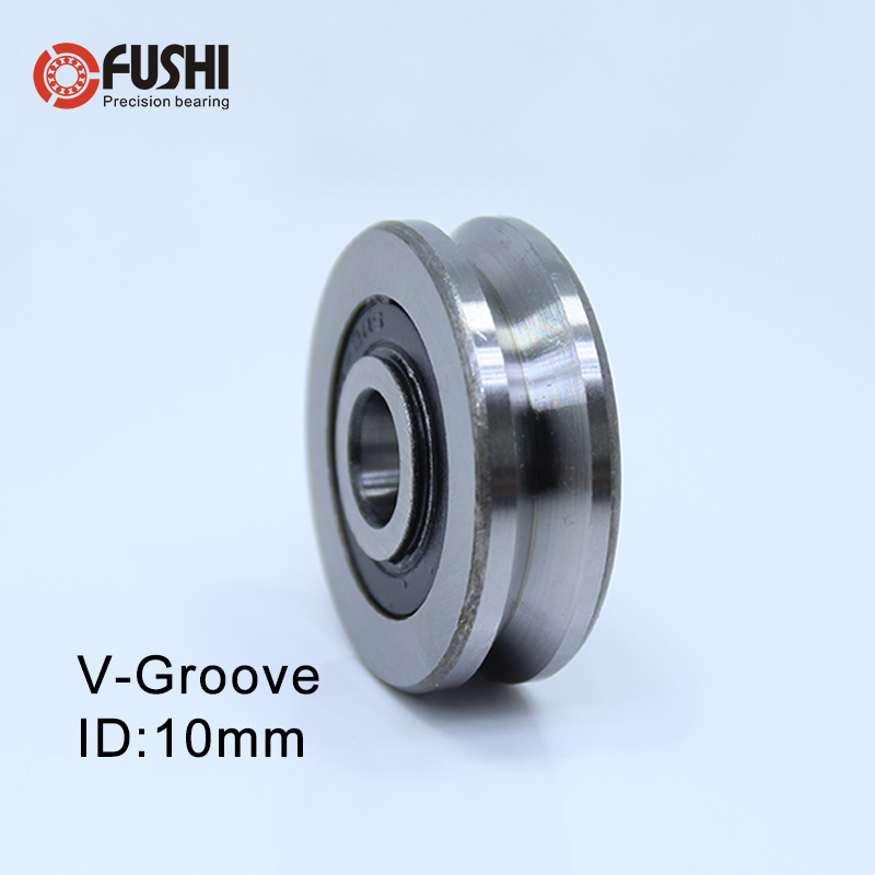 V Groove Sealed Ball Bearing ( 4PCS ) 10*35*9 10*35*11 Mm Pulley Wheel Bearings V4.1/2.1 V4/1 Guide Track Rlooer Bearing