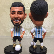Soccerwe Action Football Star Doll Kun Aguero Figure Argentina for 2018 World of CUP Souvenir Gift Collections Newly Design(China)