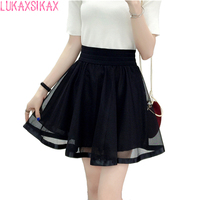 2016 New Denim Skirt Korea Lolita Mini Skirt Women Fashion Jeans Skirt Jupe Femme Pleated Skirt