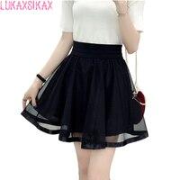 2016 New Denim Skirt Korea Lolita Mini Skirt Women Fashion Jeans Skirt Jupe Femme Pleated Skirt