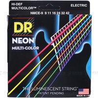 DR Strings Neon Hi Def K3 Coated Medium Electric Guitar Strings 10 46