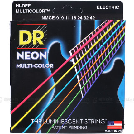 DR Strings Neon Hi-Def K3 Coated Medium Electric Guitar Strings 10-46 dr strings nmcb 40 nmcb 45 nmcb5 45 dr k3 neon bass guitar strings light multi color
