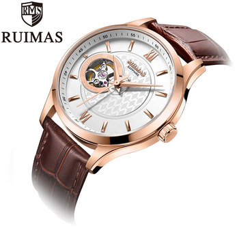 Ruimas Men Watches Genuine Leather 7N0