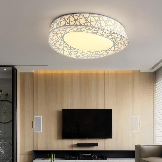 Moderne woonkamer plafondlamp vogelnest ijzer creatieve led ...