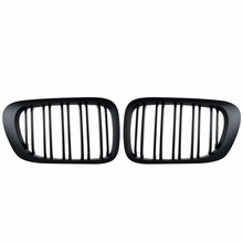 1 pair new design f90 m5 diamonds grille grill meteor style abs gloss black fits for bmw m5 look f90 front kidney grills 2019 in 1 pair Grilles Gloss Black Kidney Sport Grills Grill For BMW E46 Two-door 99-02-year Matte Black double-wire Grid Grille Car sty