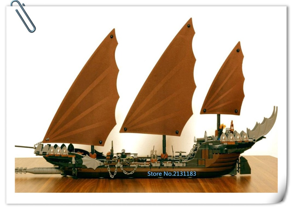 2017 New 16018 Genuine The lord of rings Series The Ghost Pirate Ship Set lepin model Building Block Brick kid boys Toys 79008 lepin 22001 pirate ship imperial warships model building block briks toys gift 1717pcs compatible legoed 10210