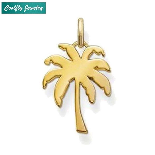 Gold Color Palm Tree Pendants Fit Necklaces 2018 New Brand Trendy Glam Fashion Jewelry Christmas Gift