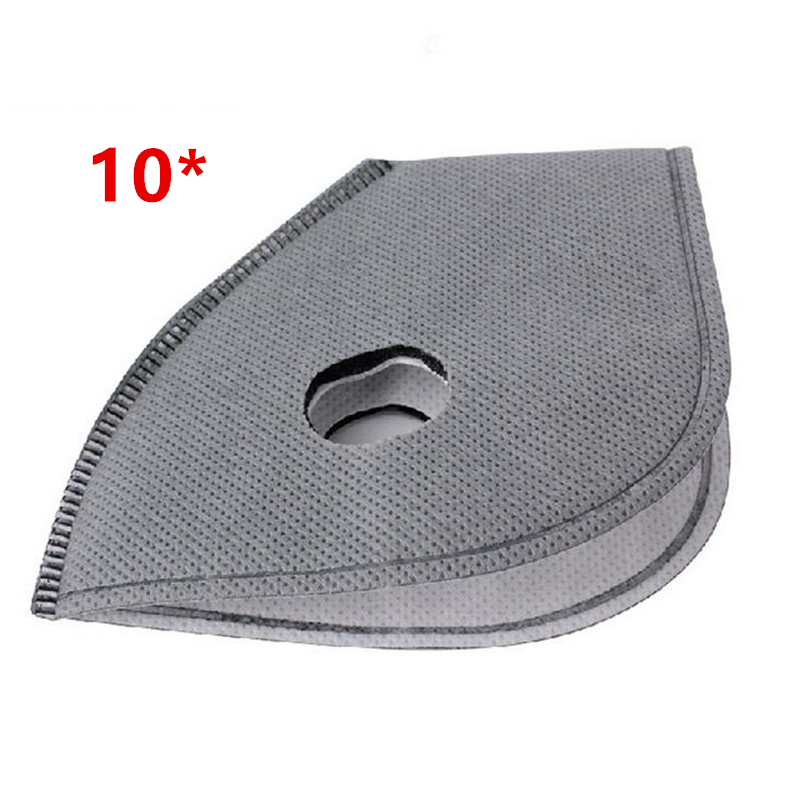 10pcs/lot Activated Carbon Mask Filter PM2.5 Anti-dust Anti Pollution 5 Layer Bike Bicycle Cycling Masks Smog Mask Filter