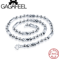 GAGAFEEL 100% Real 925 Sterling Silver Necklace Thick Mens Chain Long Necklace Fine Jewelry Dropshipping