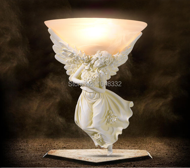 Modern Brief Arandela Wall Lamp Fashion European Style Wall Light Angel Girl Lampshade Sconce For Bedroom E27 Novelty Fixture