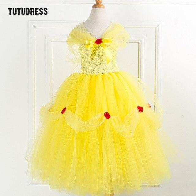 Super Beauté Bête Belle Princesse Tutu Robe Enfants Fantaisie Fille #TB_26