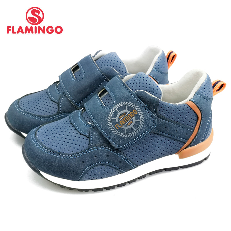 QWEST(by FLAMINGO) 2019 New Patchwork Spring&Summer Hook&Loop Outdoor Walking Kids Shoes For Boys  Size 23-28 91P-SW-1291
