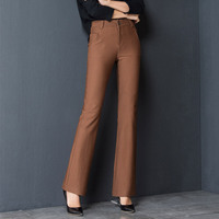 2018 Spring New Women Casual Flare Pants Female Straight Leisure Trousers Solid Color Long Trousers OL Fashion Suit Pants