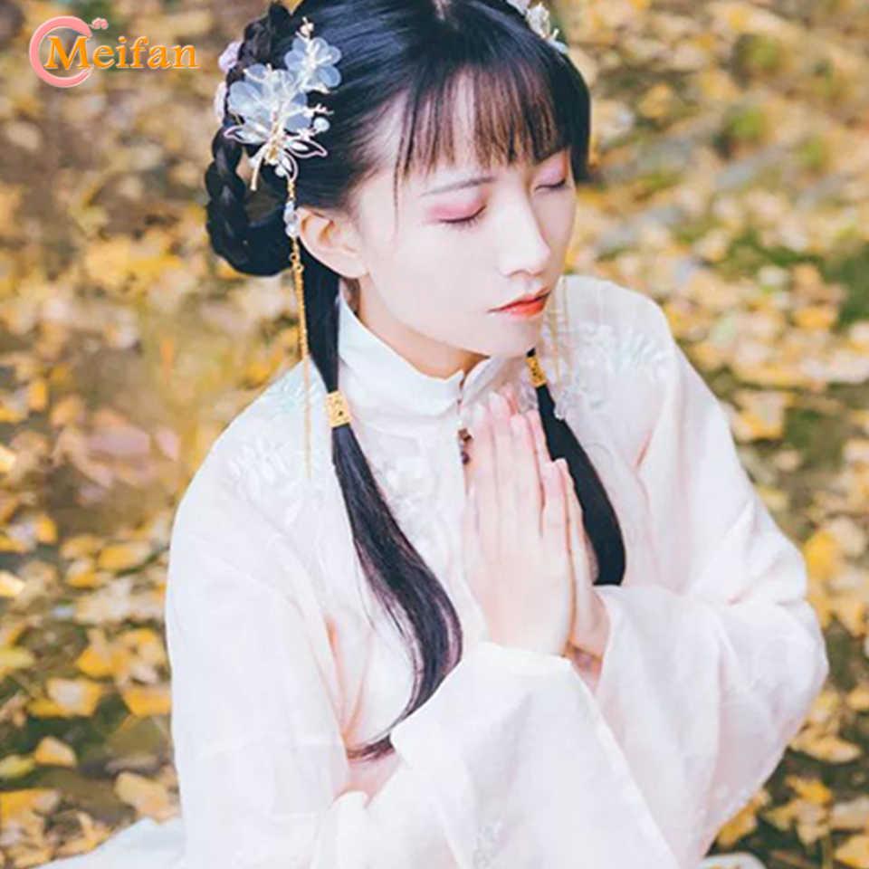 MEIFAN 中国韓服、伝統的古典的なスタイルの房のヘアピンヘアアクセサリーエレガントな古典的なトンボ蝶帽子