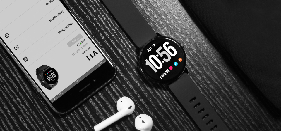 Sport watch smart tempered glass, waterproof, Android IOS Specification