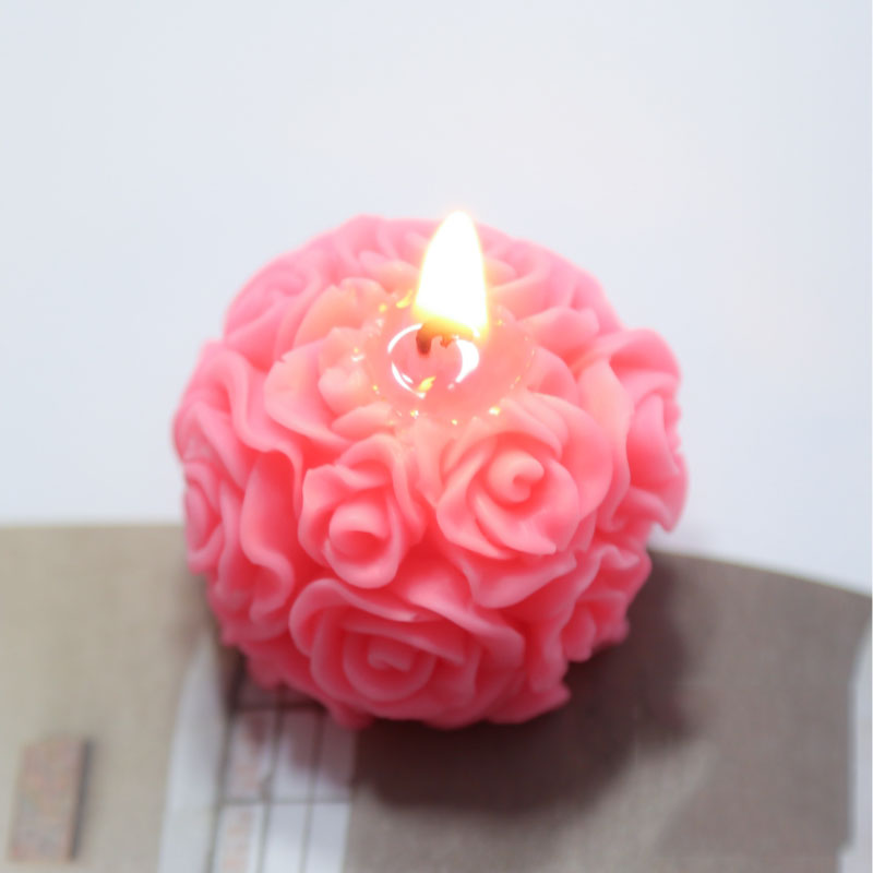 Silicone Tea light candle Mold Holder Wax Melt Pentagram easy release 4 cavity