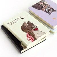 Kawaii Nette Katze Hinweis Buch Persönliche Blank Milchprodukte Journal Hardcover A5 Notebook Sketch Schulbedarf Drop Versand Shop