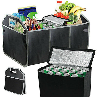 Image 3 - NEW Collapsible Foldable Car Boot Organiser Shopping Car Storage Organizer Bag-in Storage Boxes & Bins from Home & Garden
