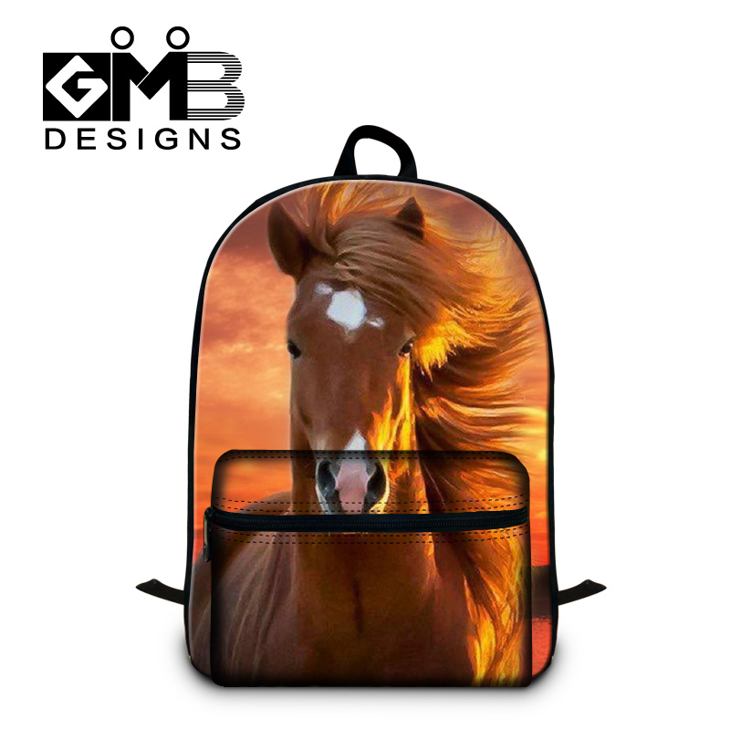Fashion School Bags for Teenagers Best Horse Pattern Backpacks for Boys High Class Students Bookbag Laptop Back Pack for College